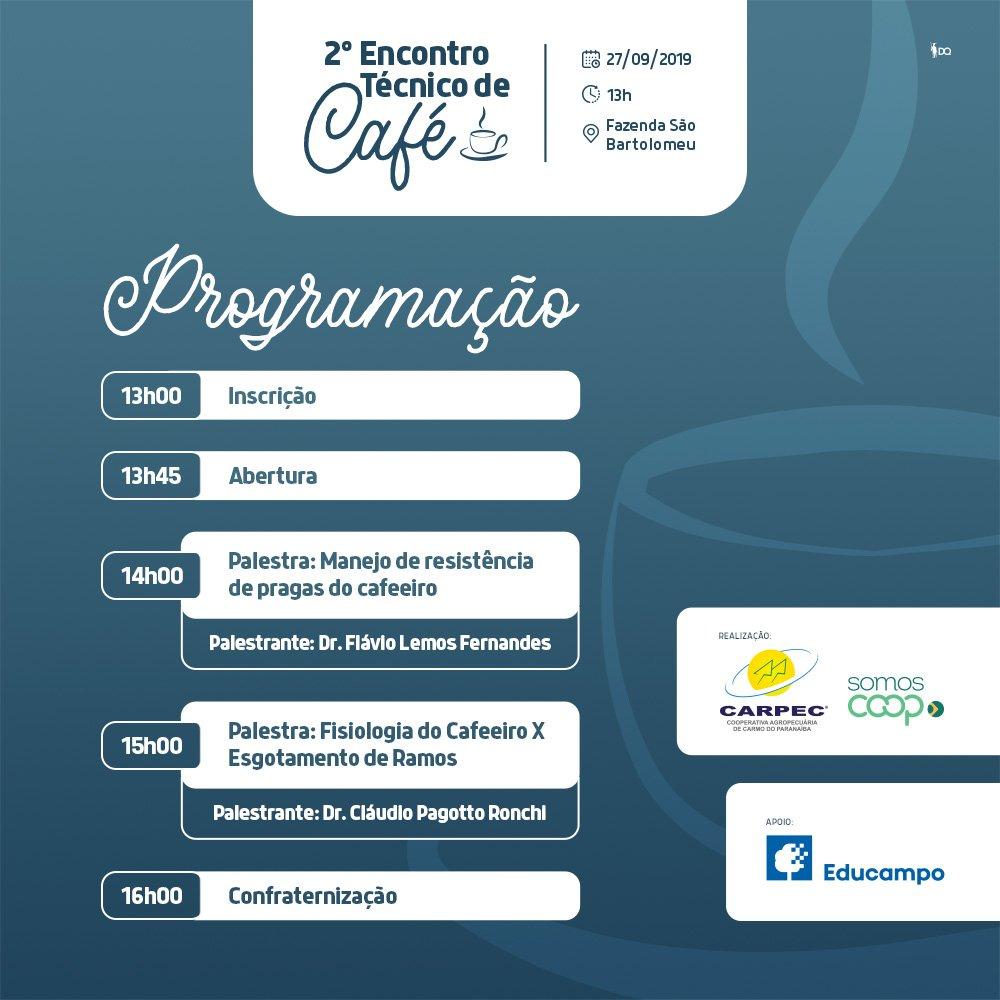 2° Encontro Técnico de Café da CARPEC. Saiba mais!