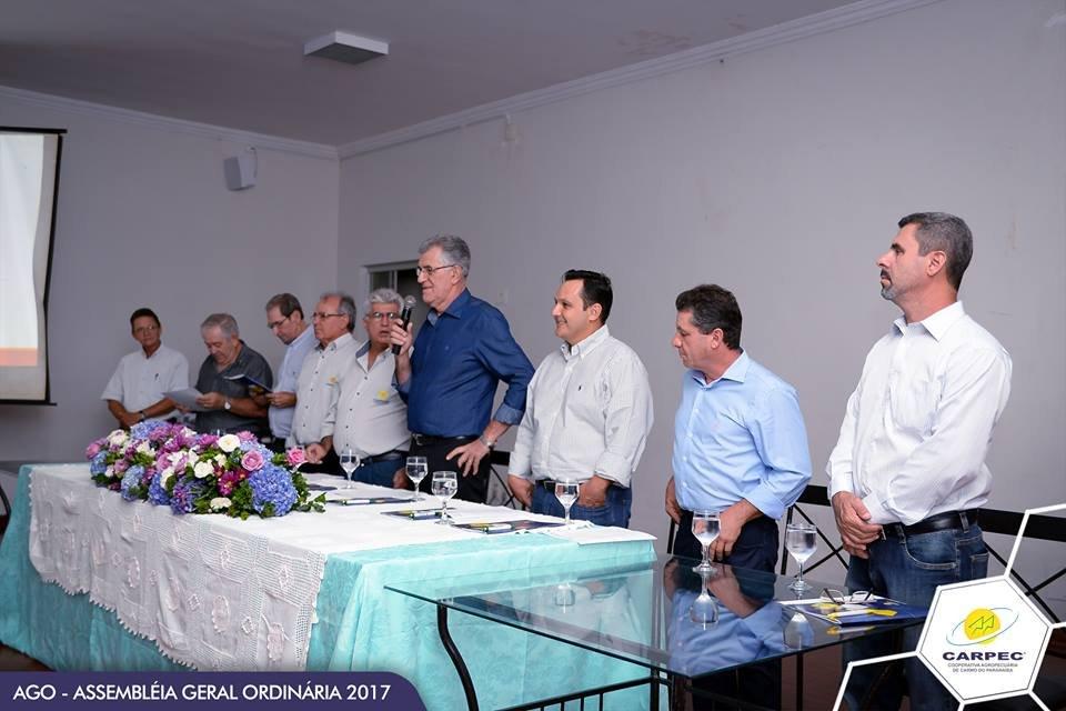 AGO  Assembleia Geral Ordinária da CARPEC  Cooperativa