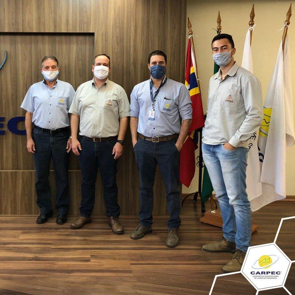 Visita dos Srs. Samuel Grillo Negrin e Douglas Cabral Simões, representantes da COOCAMIG