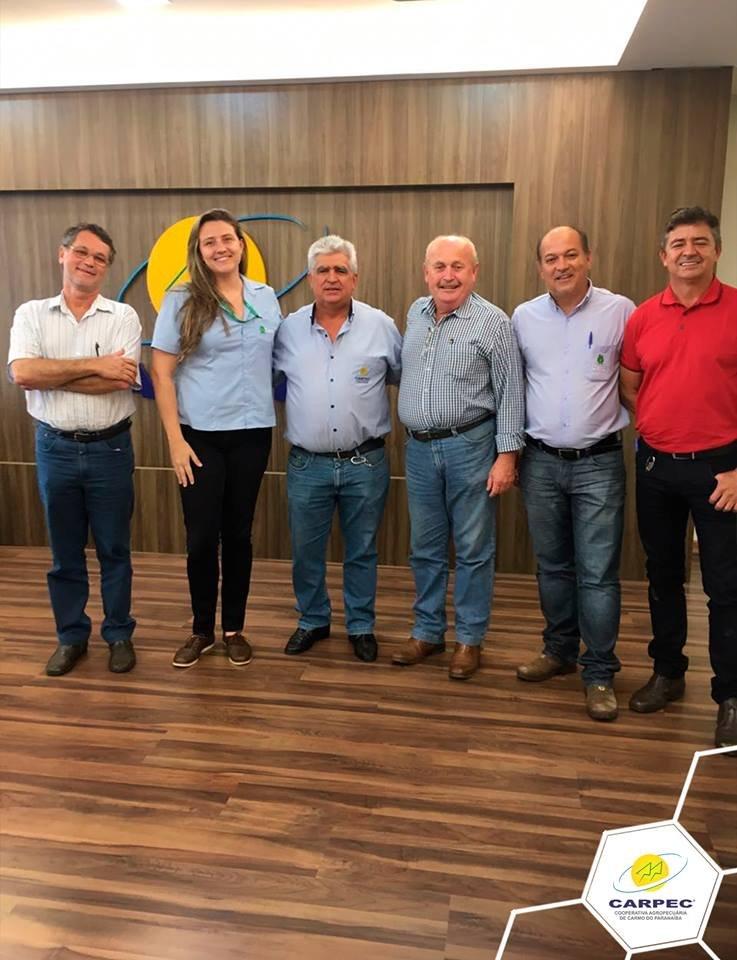 Visita do presidente da CAPUL - sediada em Unaí-MG, Raimundo Sauer