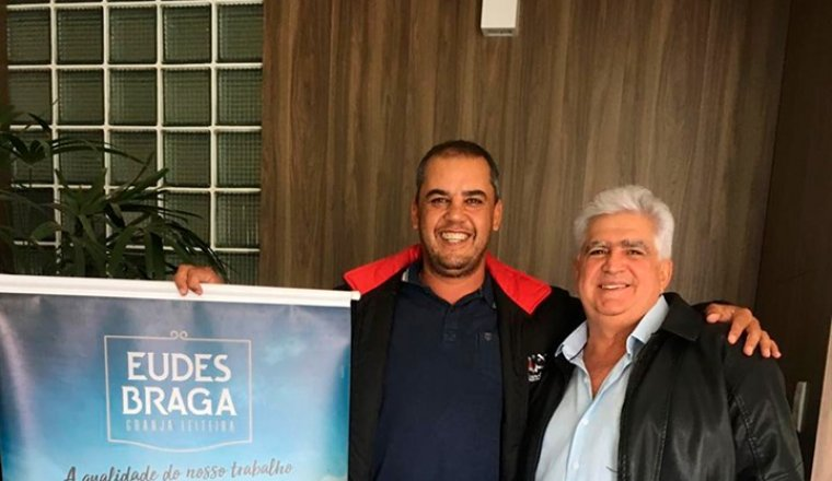 Visita do cooperado Eudes Braga